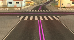 New Roads (Pink Lines)