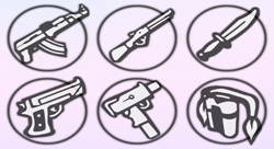 Round weapon icons