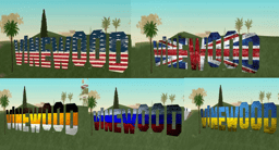Inscription VineWood flags
